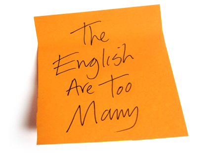 EnglishAreTooMany